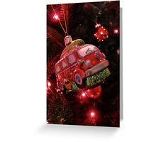 VW Bus Christmas Ornament Greeting Card