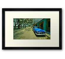 Vintage Plymouth at Cojimar  Framed Print
