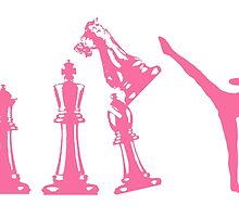 Female Kickboxing Chess Pink by yin888