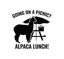 Going On A Picnic? Photographic Print