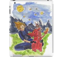 Cloud and Red XIII iPad Case/Skin