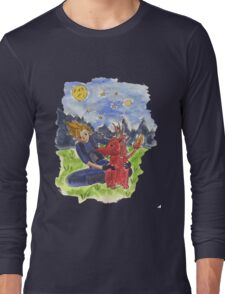 Cloud and Red XIII Long Sleeve T-Shirt