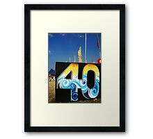 40 years of genius Framed Print