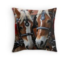 Holly Daze Christmas Fair III Throw Pillow