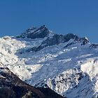 Snow Covered Mountain in New Zealand by Charles Kosina