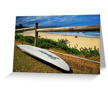 Surfing Catherine Hill Bay Greeting Card