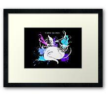 I love cats -white Framed Print