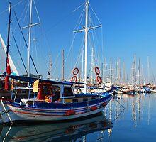 Boats in Bodrum by StefanieT