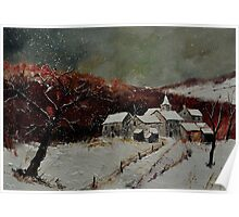 snowy landscape ardenne 570121 Poster