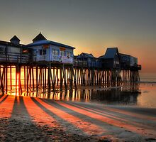 Fantasy Sunrise at the Pier by Poete100
