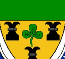 Coat of arms (family crest) for last-name or surname Rock (England) . Heraldry banner for your name. Sticker