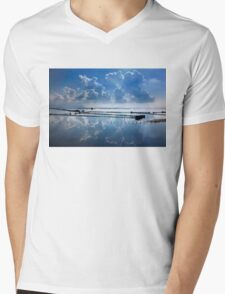 Mirroring the clouds - Messolonghi lagoon Mens V-Neck T-Shirt