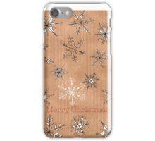 Snowflakes on kraft iPhone Case/Skin