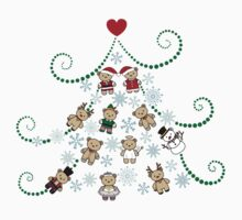 Christmas tree with bears by funfang