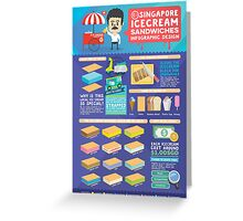 Singapore icecream sandwiches infographic design Greeting Card