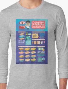 Singapore icecream sandwiches infographic design Long Sleeve T-Shirt