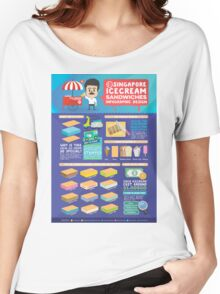 Singapore icecream sandwiches infographic design Women's Relaxed Fit T-Shirt