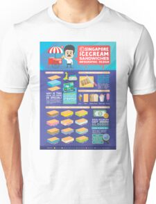 Singapore icecream sandwiches infographic design Unisex T-Shirt