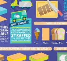 Singapore icecream sandwiches infographic design Sticker