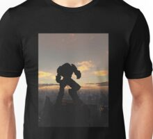 Future City - Robot Sentinel at Sunset Unisex T-Shirt