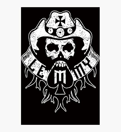 Lemmy Black Photographic Print