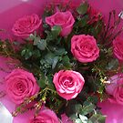 Shocking Pink Bouquet & Paper by EdsMum