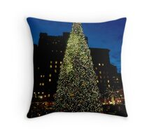 Christmas in San Francisco Throw Pillow