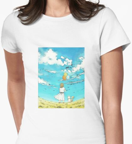 Millie's Journey : Boundless Sky Womens Fitted T-Shirt