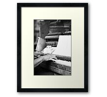 Worn out ... Framed Print