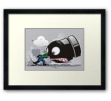 LUIGI: ALWAYS ANGRY Framed Print