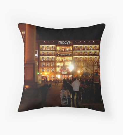 Christmas in San Francisco Throw Pillow