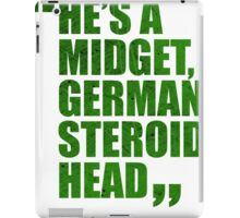 Conor McGregor - Quotes [Steroid Head - Green] iPad Case/Skin