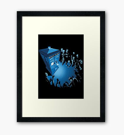 BAD LANDING Framed Print