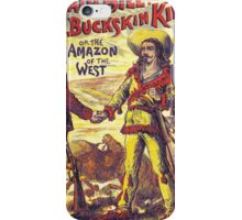 Vintage Buffalo Bill poster iPhone Case/Skin