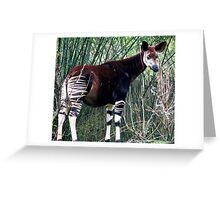 Awesome Okapi Greeting Card