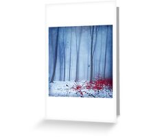 Cold Forest Greeting Card