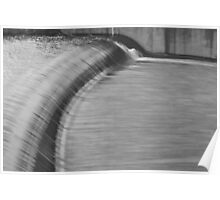 Spillway in Black and White Poster