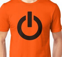 Power Button (black) Unisex T-Shirt