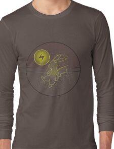 Pokéball Line Art Pikachu Long Sleeve T-Shirt