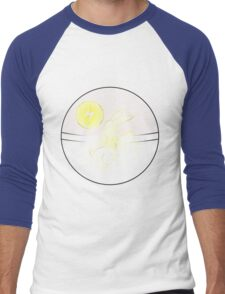Pok­éball Line Art Pikachu Men's Baseball ¾ T-Shirt