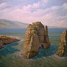 rocky seascape by edisandu
