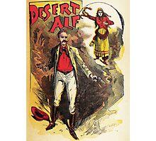 Desert Alf vintage explorer poster Photographic Print