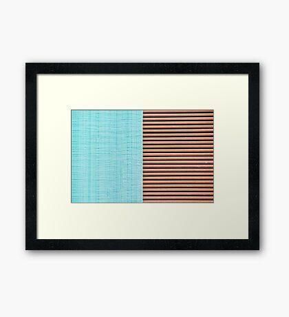 X&Y Framed Print