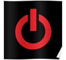 Power Button (red) Poster