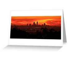 Sunset over Perth  Greeting Card