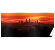 Sunset over Perth  Poster