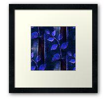 Blue Leaves Framed Print