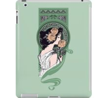 Art nouveau girl with roses iPad Case/Skin