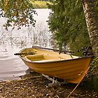 Boat on lake in Finland by lucynab