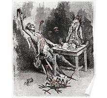 Drinking with the Devil Vintage illustration Poster